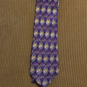 LSU tie by eagle Neckware